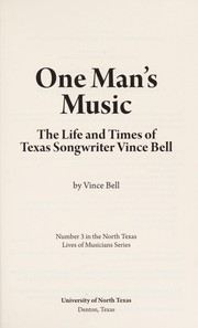 Cover of: One man's music | Vince Bell
