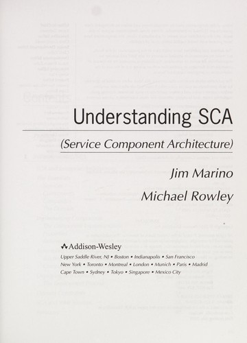Understanding SCA (Service Component Architecture) by Jim Marino