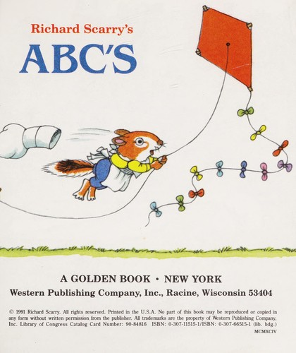 Richard Scarry's ABC by Golden Books