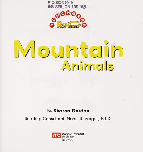 Mountain animals by Sharon Gordon