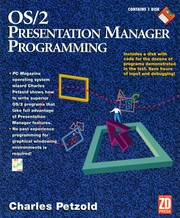 Cover of: OS/2 Presentation Manager Programming | Charles Petzold