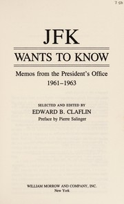 Cover of: JFK wants to know | John F. Kennedy