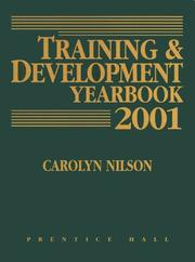 Cover of: Training and Development Yearbook 2001 (Training and Development Yearbook) | Carolyn Nilson