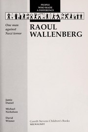 Cover of: Raoul Wallenberg | Jamie Daniel