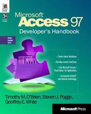 Cover of: Microsoft Access 97 developer's handbook by Timothy M. O'Brien