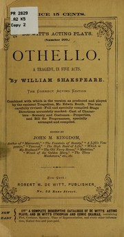 Cover of: Othello | William Shakespeare