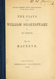 Cover of: Macbeth - William Shakespeare | William Shakespeare