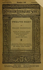 Cover of: Twelfth night | William Shakespeare