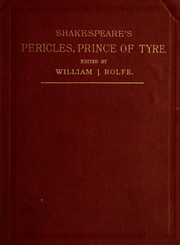 Cover of: Pericles | William Shakespeare