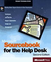 Cover of: Microsoft Sourcebook for the Help Desk | Corporation Microsoft