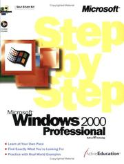 Cover of: Microsoft(r) Windows(r) 2000 Professional Step by Step by ActiveEducation
