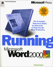 Cover of: Running Microsoft Word 2000 by Charles Rubin
