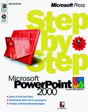 Cover of: Microsoft  PowerPoint 2000 Step by Step by Perspection Inc.