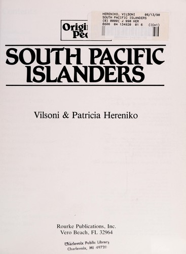 South Pacific islanders by Vilsoni Hereniko