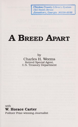 A Breed Apart by Charles Weems