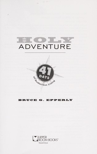 Holy adventure by Bruce G. Epperly