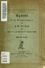 Cover of: Egmont | John Leonard Greenberg