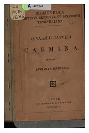 Cover of: Selected poems | Gaius Valerius Catullus