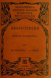 Cover of: Nicomachean ethics | Aristotle