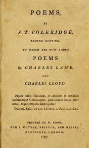 Cover of: The Poems of Samuel Taylor Coleridge | Samuel Taylor Coleridge