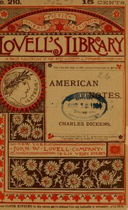 Cover of: American Notes | Charles Dickens