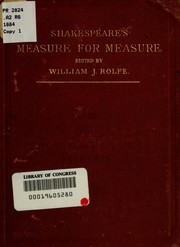 Cover of: Measure for measure | John Martin Russell