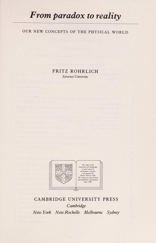 From paradox to reality by F. Rohrlich