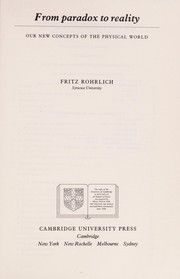 Cover of: From paradox to reality | F. Rohrlich