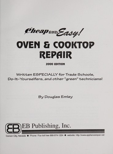 Oven and cooktop repair by Douglas Emley