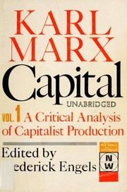 Cover of: Das Kapital | Karl Marx