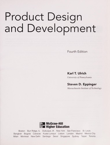 Product design and development by Karl T Ulrich