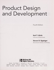 Cover of: Product design and development | Karl T Ulrich
