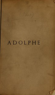Cover of: Adolphe | Benjamin Constant