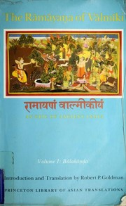 Cover of: Ramayana, a Holy Bible of India | Vālmīki.