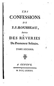Cover of: Confessions | Jean-Jacques Rousseau