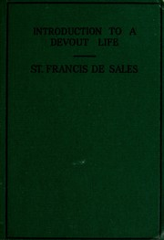 Cover of: Introduction à la vie dévote | Francis de Sales