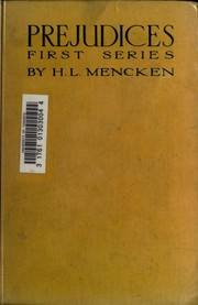 Cover of: Prejudices | H. L. Mencken