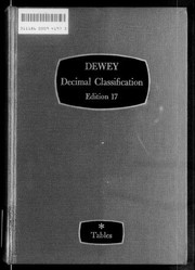 Cover of: Dewey decimal classification and relative index | Melvil Dewey