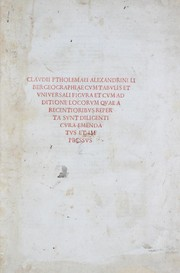 Cover of: Geographia | Ptolemy, Ptolemy