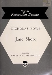 Cover of: The Tragedy of Jane Shore | Rowe, Nicholas