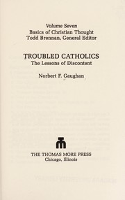Cover of: Troubled Catholics | Norbert F. Gaughan