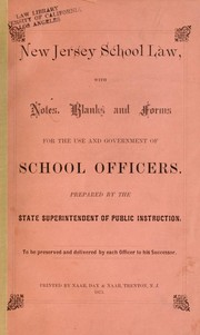 Cover of: Laws, etc | New Jersey.