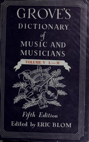 Cover of: Dictionary of music and musicians | Sir George Grove