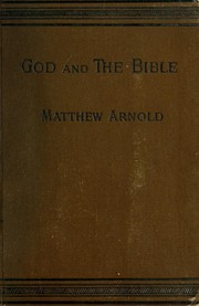 Cover of: God and the Bible | Matthew Arnold