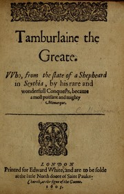 Cover of: Tamburlaine the Great | Christopher Marlowe
