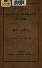 Cover of: Horace | Horace