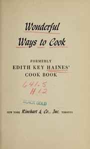 Cover of: Wonderful ways to cook | Edith Key Haines