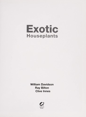Exotic houseplants by William Davidson