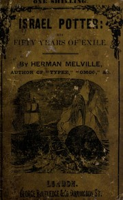 Cover of: Israel Potter | Herman Melville