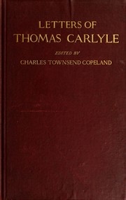 Cover of: Early letters of Thomas Carlyle | Thomas Carlyle